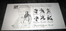 Blok 67 Van België 1990 Met Droogstempel / Feuillet En Noir Et Blanc / Zwart-Wit Velletje / Black&White Sheet Rare! - Hojas Blanco & Negro