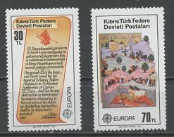 Europa CEPT 1982 Chypre Turque - Cyprus - Zypern Y&T N°(1) à (2) - Michel N°114 à 115 *** - 1982