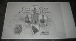 Blok 234 Zwart-Wit Velletje  Gent, Markten En Floraliën / Feuillet En Noir Et Blanc Gand Places Et Floralies 4581/85 - Hojas Blanco & Negro