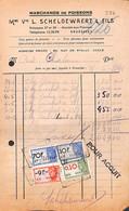 Bruxelles - Marchands De Poissons Scheldewaert & Fils  - Vismet - Lot 2 Factures 1946 - Food