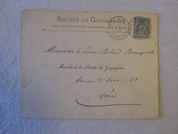 Sté De Géographie, 1896, Prince Roland Bonaparte, Timbre Type Sage 15 C - Sin Clasificación