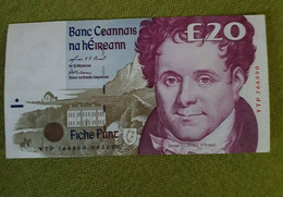 IRELAND  1998 -  20  POUNDS  BILLET - Irlanda