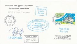 """TAAF-Martin De Vivies-St Paul-AMS: Lettre """"Austral"""" Avec Timbre N°208 L'Austral - 14/02/1996 - Cartas"""