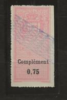 TIMBRES FISCAUX DE MONACO DIMENSIONS OBLIRERE Grille Enregistrement N°12  0,75 Rose - Revenue