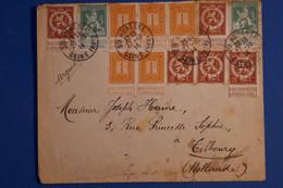 K28 BELGIQUE BELLE LETTRE 1914 STE AURESSE POUR TILBOURG HOLLANDE + PAIRE T.P+ AFFRANCH PLAISANT - 1914-1915 Rotes Kreuz
