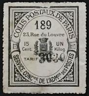 Colis Postaux De Paris N°35 Colis Réclame Tarif Spécial 15c Noir (°) (Maury 200 Euros) France – Cplot - Oblitérés