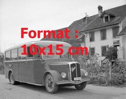 Reproduction Photographie Ancienne D'unbus SaurerPostà Champmartinen Suisse - Riproduzioni