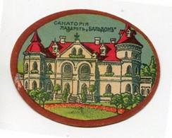 RUSSIE - VIGNETTE - 1915 - RIGA. Infirmerie Du Sanatorium (cartonnée) - Erinnofilia
