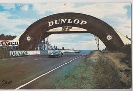 CPSM Automobile Le Mans (72) Circuit 24 Heures  La Passerelle Dunlop Voiture Jaguar Ed Georget  Cachet 1958 - Altri