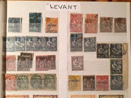 Lot Timbres Colonies Levant Français X 58 - Non Classés