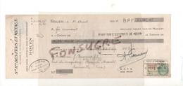 Société Anonyme Des Fers Et Métaux 76 Rouen / 27 Saint Sylvestre De Cormeilles Eure 1934 Timbre Fiscal 1,50Fr  MR111 - Bills Of Exchange