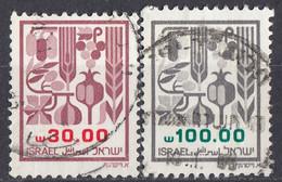 ISRAELE - 1984 - Lotto Di 2 Valori Usati: Yvert 904 E 906. - Oblitérés (sans Tabs)