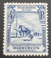 Maroc Espagnol - Marruecos - Telegrafos - EDIFIL N° 30 - Nuevo Sin Goma - Spanish Morocco