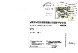 DANIMARCA -2021 Lettera Italiana Per Danimarca Ritornata Con Etichetta Che Copre Indirizzo Destinatario Sconosciuto-4062 - Cartas