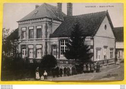 SOUDRON - Mairie Et École - Animée - Otros Municipios