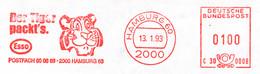 Freistempel 9998 Tiger Esso - Affrancature Meccaniche Rosse (EMA)