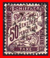 FRANCIA ) SELLO AÑO DE EMISIÓN 1859-1955 TIPO TIMBRE TAXE FRANQUE A PAGAR ABLIGATORIO - 1859-1955 Used