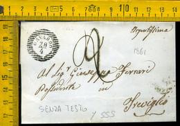 Piego Senza Testo Gavardo Per Treviglio Bergamo - 1. ...-1850 Prephilately