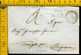 Piego Con Testo Pontevico Brescia Per Treviglio Bergamo - 1. ...-1850 Prephilately