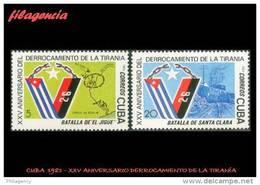 CUBA MINT. 1983-25 XXV ANIVERSARIO DEL DERROCAMIENTO DE LA TIRANÍA - Neufs