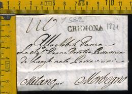 Piego Con Testo Cremona Per Morbegno Sondrio - 1. ...-1850 Prephilately