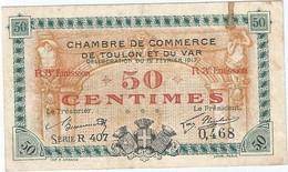 Francia - France 50 Céntimes 12-2-1917 Toulon Ref 4778-2 - Chamber Of Commerce