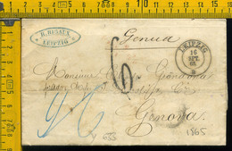 Piego Con Testo Germania Leipzg Per Genova - 1. ...-1850 Prephilately