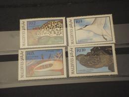 MLDIVES - 1986 FAUNA MARINA 4 VALORI - NUOVI(++) - Maldivas (1965-...)