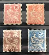 CRETE 1902- LOT  YT 6 NEUF** / MNH Et YT  7 - 8 - 9  NEUF* / MH - CV 20 EUR - Unused Stamps