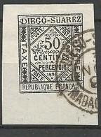 DIEGO-SUAREZ  TAXE N° 2 BDF OBL TB / Signé BRUN - Used Stamps