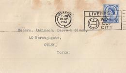 Liverpool World Cup City Football 1966 Postmark Envelope - Zonder Classificatie