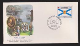 CANADA FDC Scott # 823 - Flag Of Nova Scotia - Fleetwood Cachet - 1971-1980