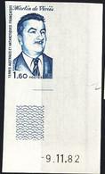 F.S.A.T. (1983) Martin De Vivies. Corner Imperforate. Scott No 100, Yvert No 99. - Sin Dentar, Pruebas De Impresión Y Variedades