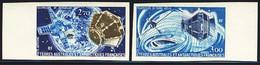 F.S.A.T. (1977) Satellite Imaging. Set Of 2 Margin Imperforates. Scott Nos C52-3, Yvert Nos PA49-50. - Sin Dentar, Pruebas De Impresión Y Variedades