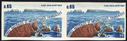 F.S.A.T. (1983) Apostle Islands. Imperforate Pair. Scott No C72, Yvert No PA73. - Sin Dentar, Pruebas De Impresión Y Variedades