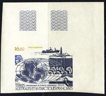 F.S.A.T. (1987) Ocean Drilling. Corner Imperforate. Scott No C97, Yvert No PA98. - Sin Dentar, Pruebas De Impresión Y Variedades