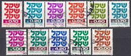 ISRAELE - 1980/1981 - Lotto Di 11 Valori Usati: Yvert 772/779 E 782/784. - Oblitérés (sans Tabs)