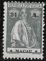 Macau Macao Mint Hinged * 1923 32 Euros - Unused Stamps