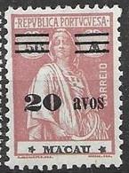 Macau Macao Mint Hinged * 100 Euros 1933 - Unused Stamps