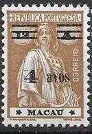 Macau Macao Mint Hinged * 12 Euros 1933 - Unused Stamps