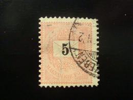 TIMBRE HONGRIE 5 KREUZER 1874 / 1888 - Gebraucht