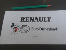 Autocollant - AUTOMOBILE - RENAULT EURO DISNEYLAND -1988 - Mickey - Pegatinas