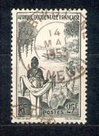 A.O.F. Afrique Occidentale Francaise - Französisch Westafrika 1947 - Michel Nr. 52 O - Oblitérés
