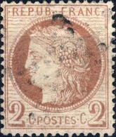 FRANCE - 1872 - Yv.51 2c Rouge-brun - Obl. B/TB (étoile) - 1871-1875 Cérès