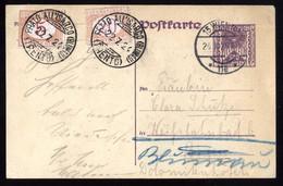 PRATO ISARCO BLUMAU CORNEDO ALL'ISARCO 1924 - INTERO DA VIENNA TASSATO IN ARRIVO CON 5 C + 20 C ( INT230) - Portomarken