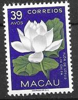Macau Macao Mnh ** 5,5 Euros Flowers 1953 - Unused Stamps
