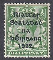 Ireland, Scott #39, Mint Hinged, George V Overprinted, Issued 1922 - Unused Stamps