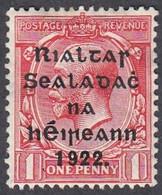 Ireland, Scott #40, Mint Hinged, George V Overprinted, Issued 1922 - Unused Stamps