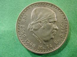 Mexico  1 Peso 1948 Silver - Mexico