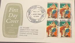 O) 1968 AUSTRALIA, ANTARCTIC TERRITORY, BRANDING OF ELEPHANT SEALS, MACQUARIE ISLAND, TO ENGLAND. XF - Sin Clasificación